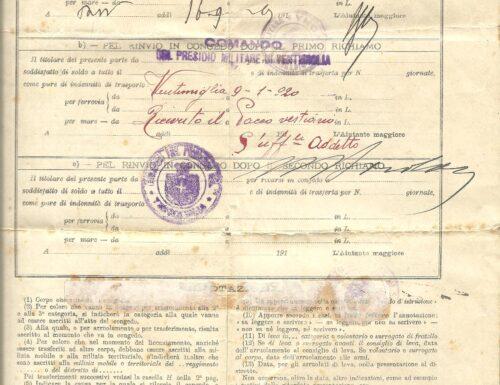 Un soldato di Ventimiglia (IM), autista nella Grande Guerra