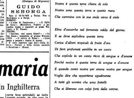 Una lettera di Guido Seborga a Hikmet