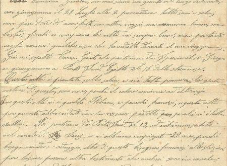 Da Zanzibar, un camporossino il 26 luglio 1888