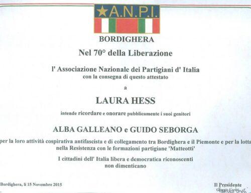 Alba Galleano, intellettuale antifascista tra Bordighera (IM) ed il Piemonte