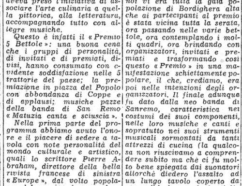 Il Premio 5 Bettole 1952