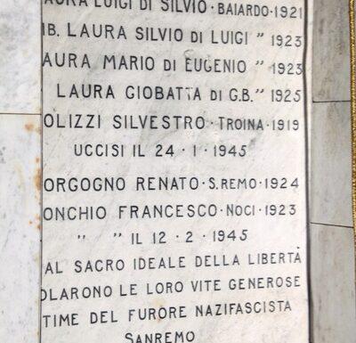 Vicende partigiane di fine gennaio 1945 nella I^ Zona Operativa Liguria