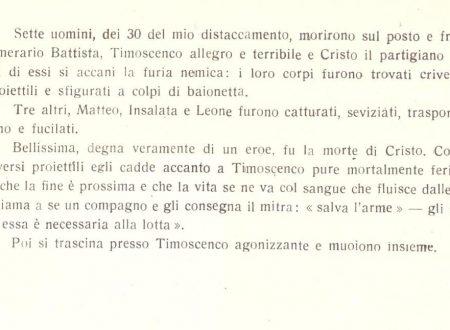 Azioni partigiane tra Carpasio (IM), Valle Maro e Val Prino dal 21 gennaio 1945