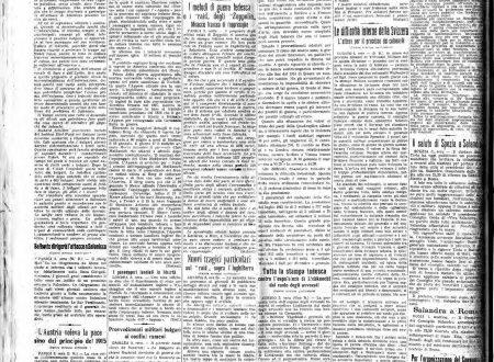 """Il """"Resto del Carlino"""" di venerdì 4  febbraio 1916"""