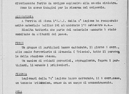 """20 settembre 1943: si forma la """"banda del monte Cucco"""""""